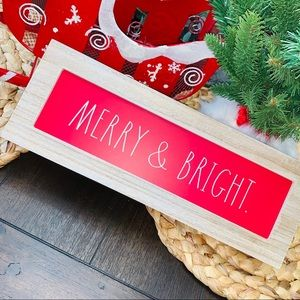 ❤️🏡RAE DUNN{MERRY & BRIGHT} Red Christmas Plaque